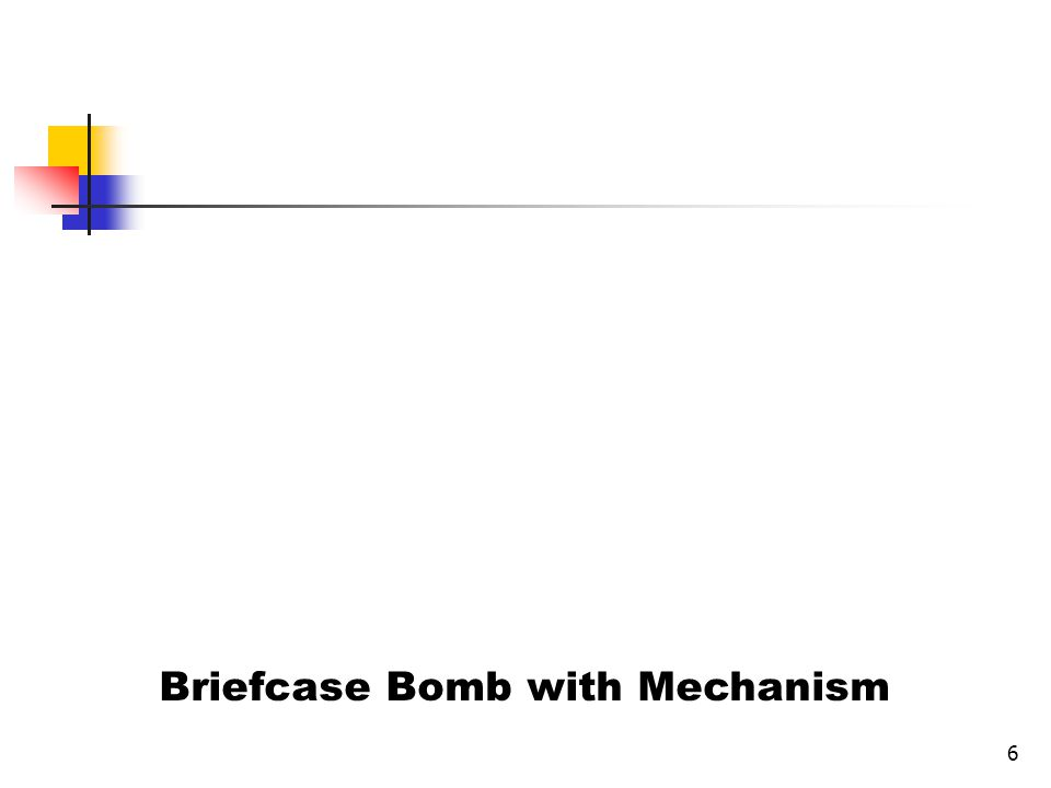 6 Briefcase Bomb with Mechanism
