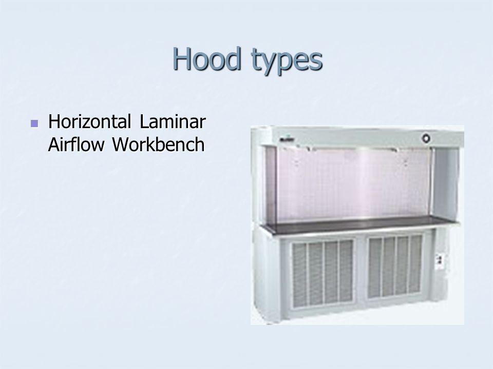 Hood types Horizontal Laminar Airflow Workbench Horizontal Laminar Airflow Workbench