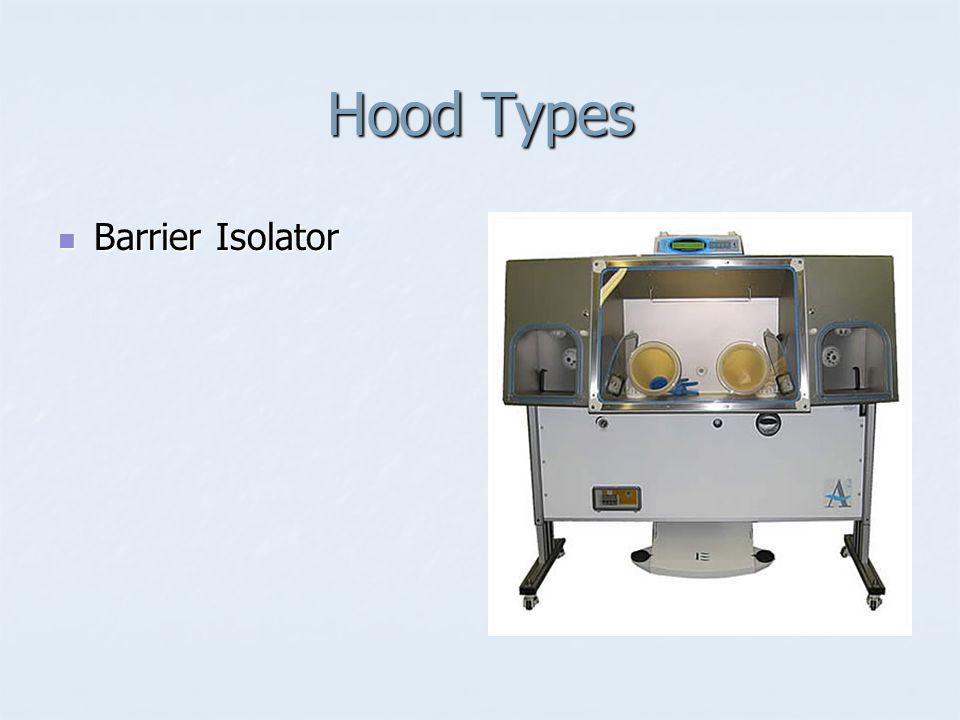 Hood Types Barrier Isolator Barrier Isolator