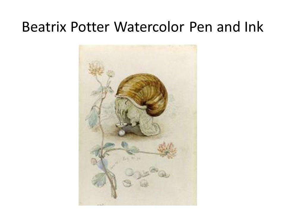 Beatrix Potter Watercolor Pen and Ink