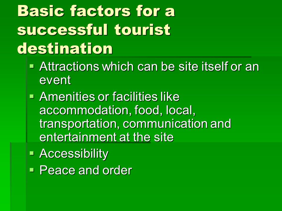 Characteristics of Tourism Product is not brought to the consumer; Product is not brought to the consumer; The tourism product is not used up, it doesnt exhaust the countrys natural resources; The tourism product is not used up, it doesnt exhaust the countrys natural resources; People-oriented; People-oriented; Labor-intensive; Labor-intensive; Multi-dimensional; Multi-dimensional; Seasonal; Seasonal; Dynamic; Dynamic; Characterized by the changing ideas of its customers.