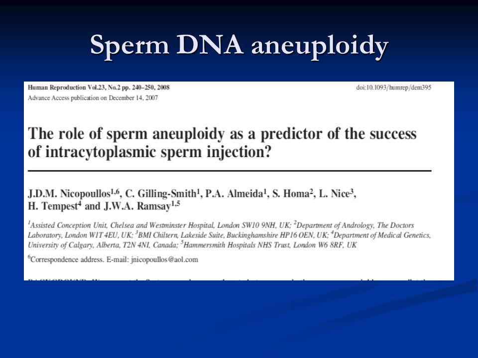 Sperm DNA aneuploidy