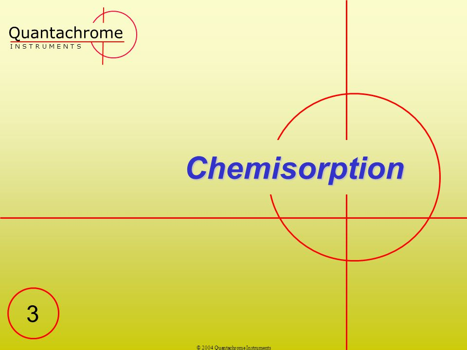 © 2004 Quantachrome Instruments On The Nature of Chemisorption Because chemisorption involves a chemical bond between adsorbate and adsorbent, unlike physisorption, only a single layer of chemisorbed species can be realized on localized active sites such as those found in heterogeneous catalysts.