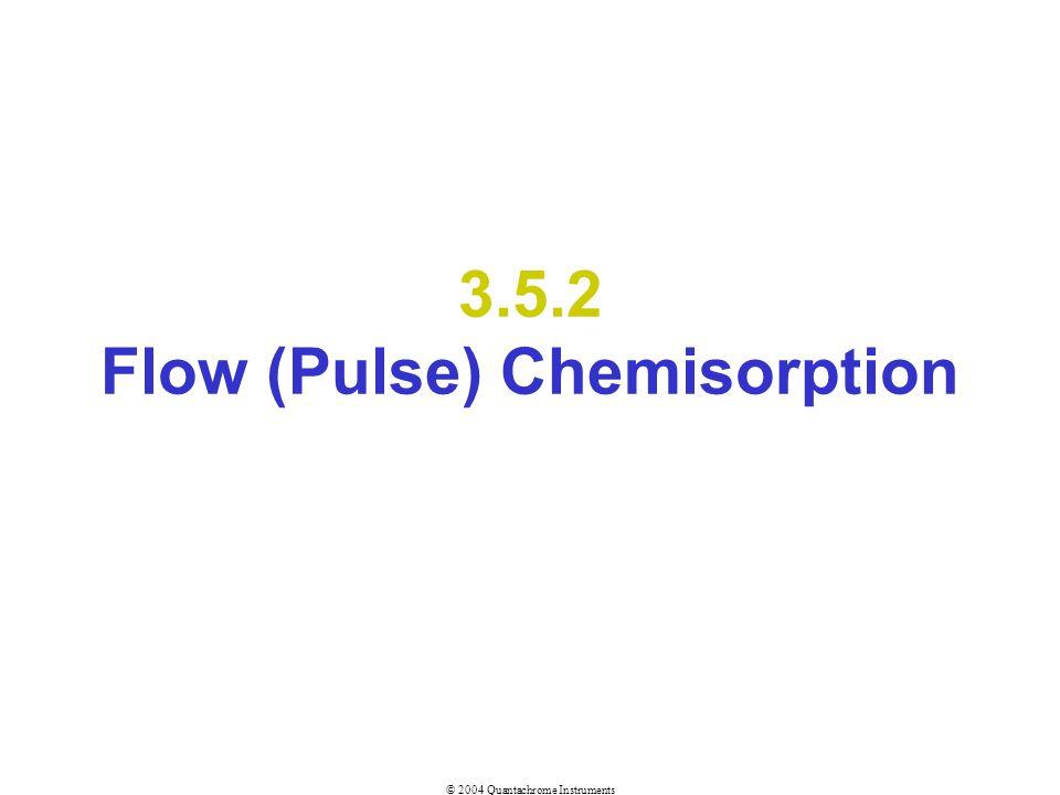 © 2004 Quantachrome Instruments 3.5.2 Flow (Pulse) Chemisorption