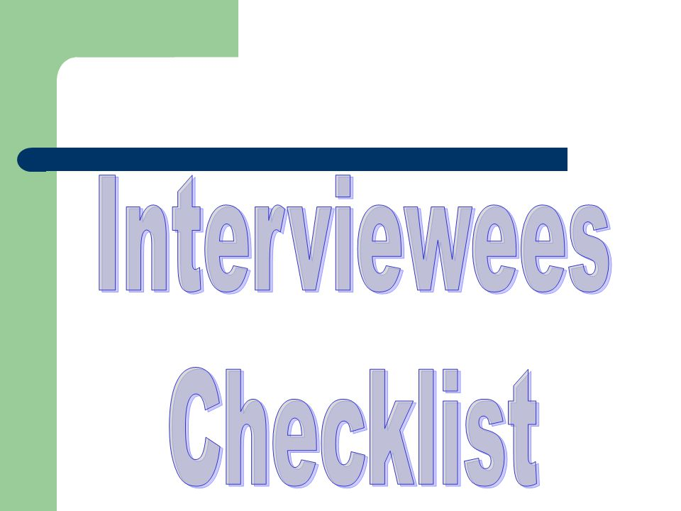 Key Information for Interviews QUESTIONS YOU MAY BE ASKED – Tell me about yourself.