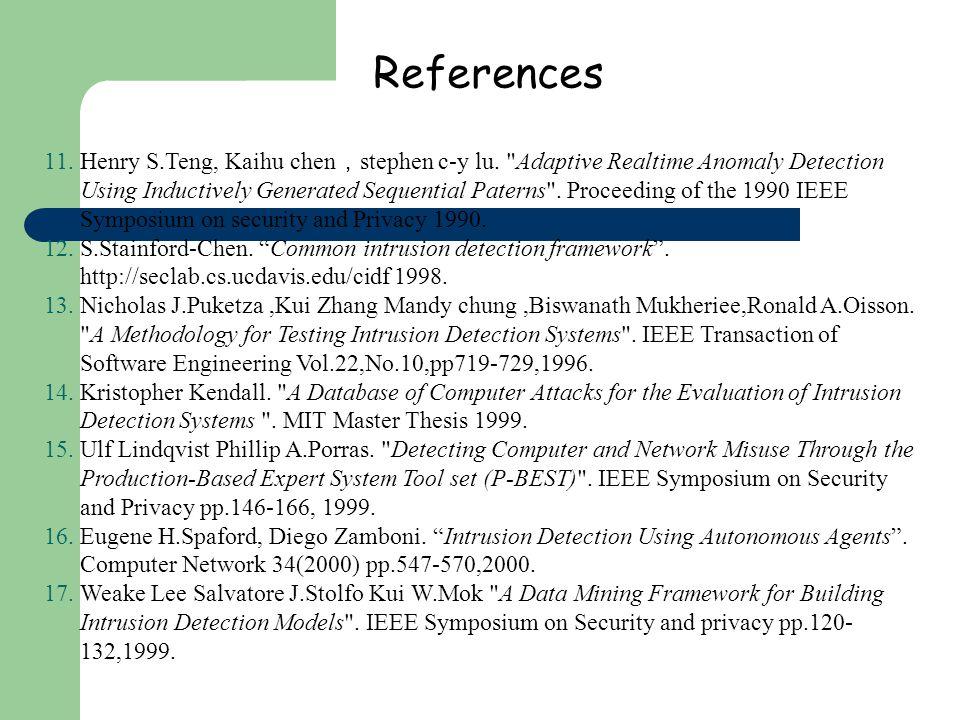 References 11.Henry S.Teng, Kaihu chen stephen c-y lu.