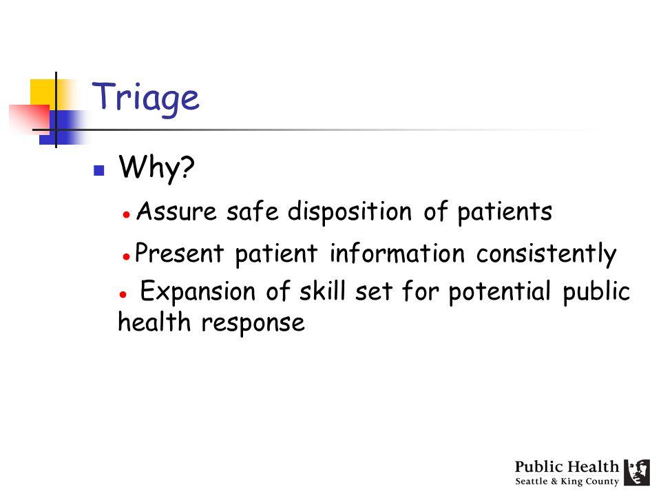 Triage Why.