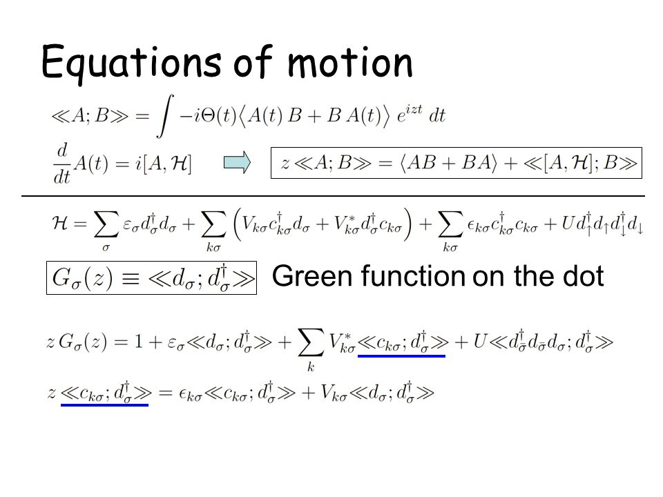 Relations at T=0 and Fermi energy: MWL approach gives.