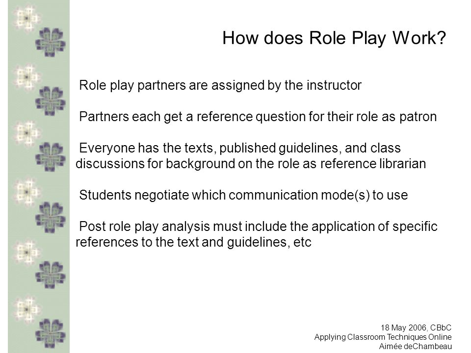 How does Role Play Work.