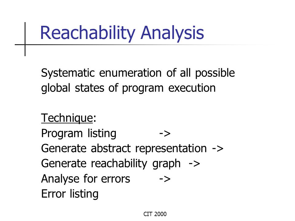 CIT 2000 Experimental Results (Contd.)