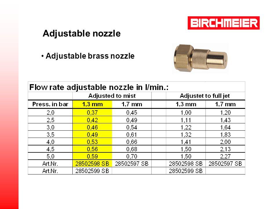 Adjustable brass nozzle Adjustable nozzle