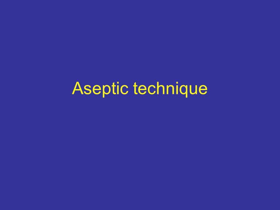 Aseptic technique