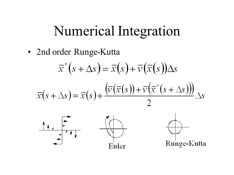 Numerical Integration 2nd order Runge-Kutta