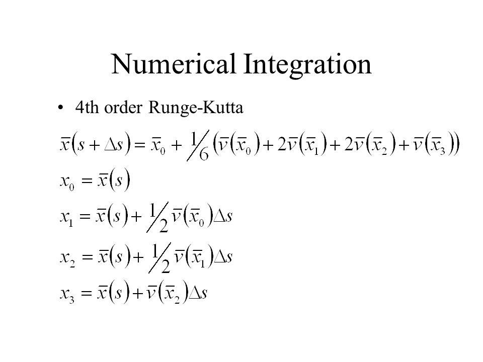 Numerical Integration 4th order Runge-Kutta