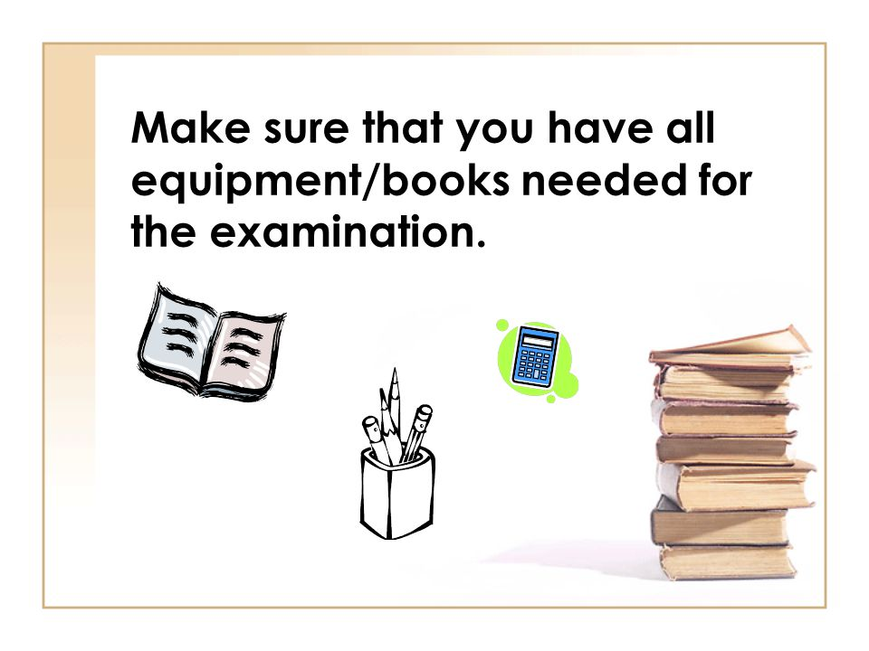 Make sure you know which examination room to go to.