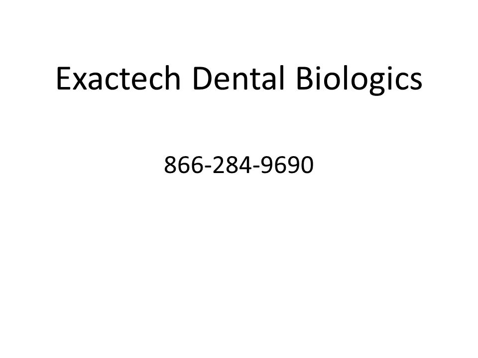 Exactech Dental Biologics 866-284-9690