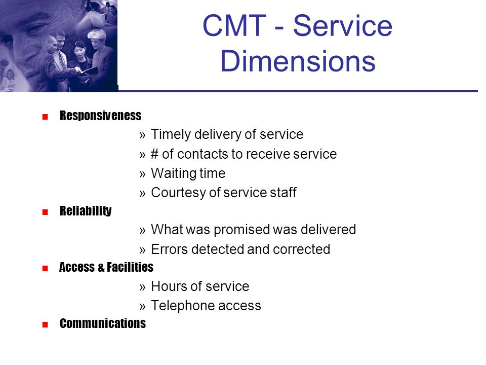 Elements of the Service Experience...