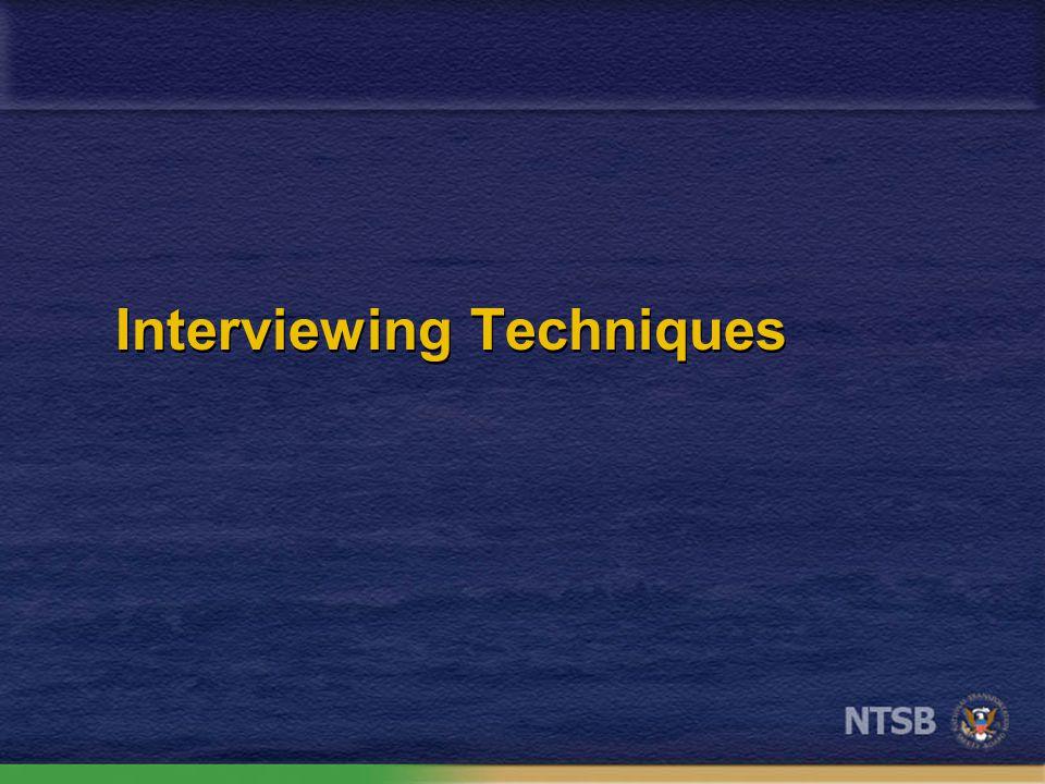 The ideal interviewer ?