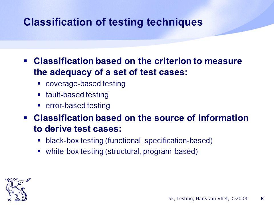 SE, Testing, Hans van Vliet, ©2008 49 Example (cntd) 246 5 2 av # of loans age AB