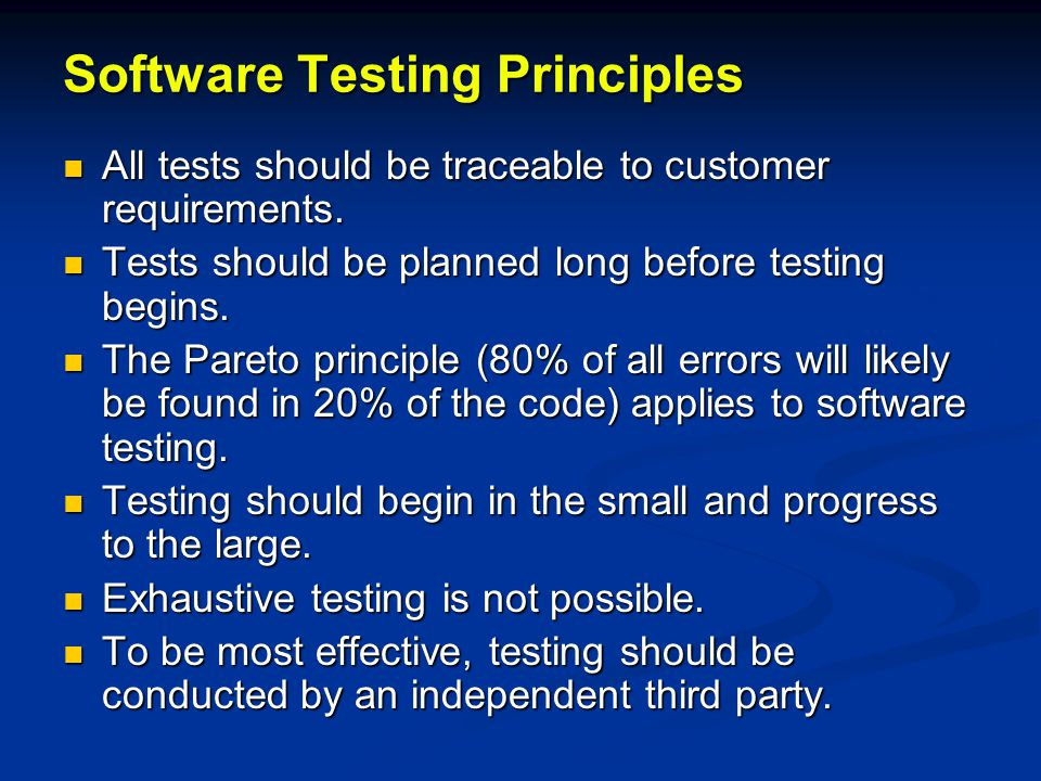 Software Testability Checklist Operability (the better it works the more efficiently it can be tested) Operability (the better it works the more efficiently it can be tested) Observabilty (what you see is what you test) Observabilty (what you see is what you test) Controllability (the better software can be controlled the more testing can be automated and optimized) Controllability (the better software can be controlled the more testing can be automated and optimized)