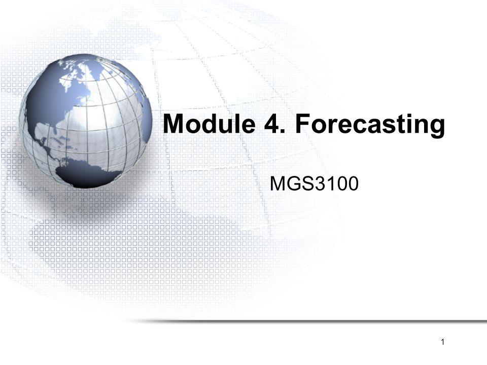 2 Forecasting Quantitative Causal Model Trend Time series Stationary Trend Trend + Seasonality Qualitative Expert Judgment Delphi Method Grassroots