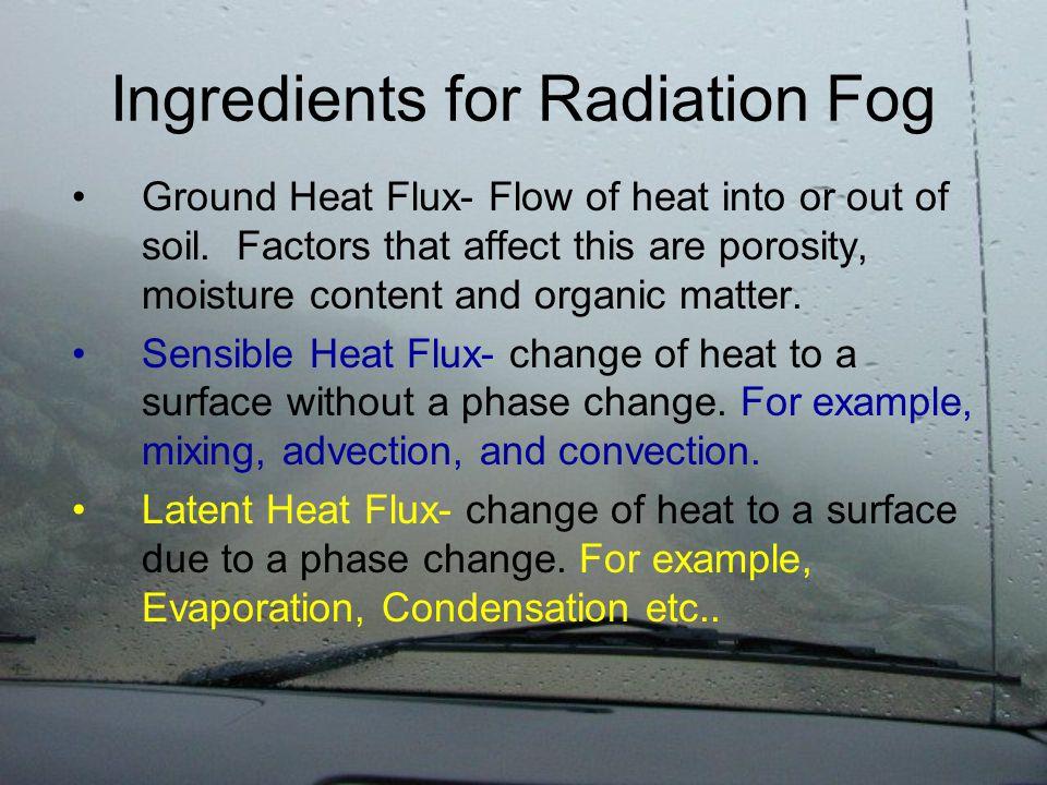 Battle of the Fluxes at Night Net Radiation Ground Heat Flux Sensible Heat FluxLatent Heat Flux Recall: Rn - G = SH + LH