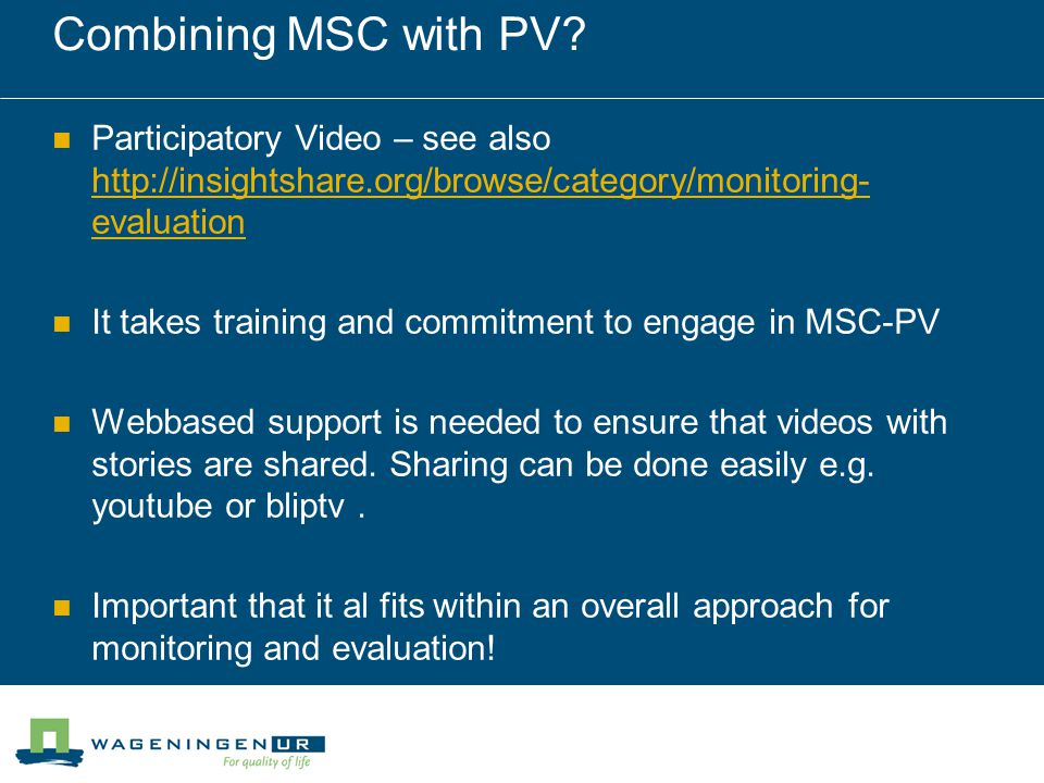 Combining MSC with PV.