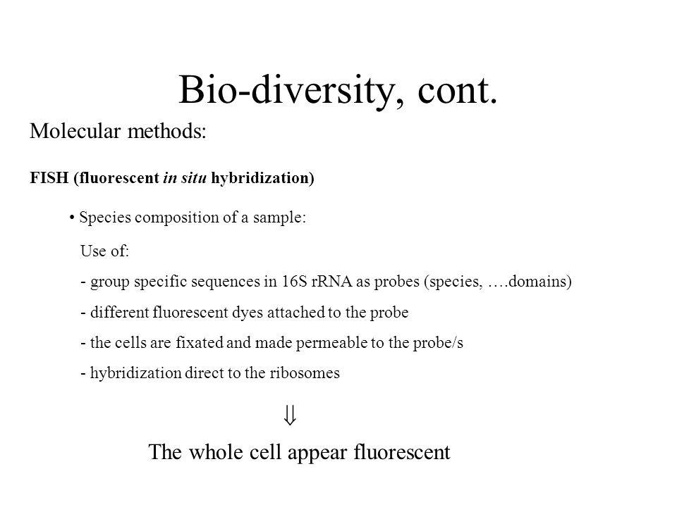 Bio-diversity, cont.