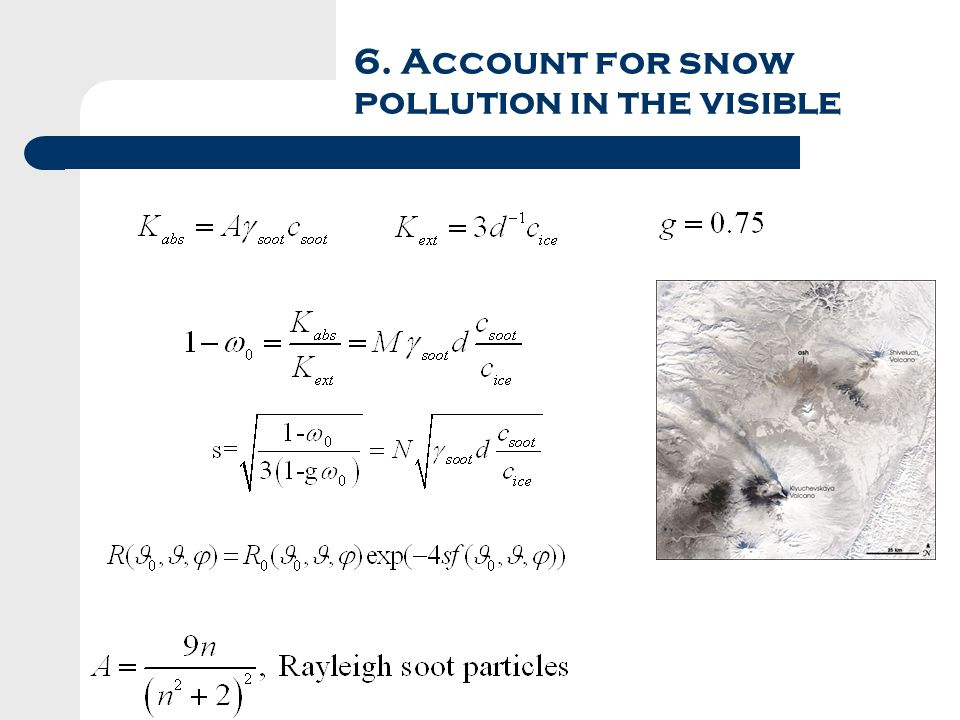6. Account for snow pollution in the visible