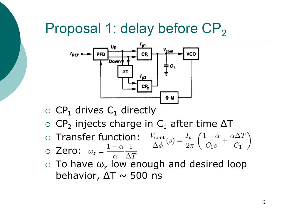 7 Proposal 1: delay before CP 2 Problems with Proposal 1 1.