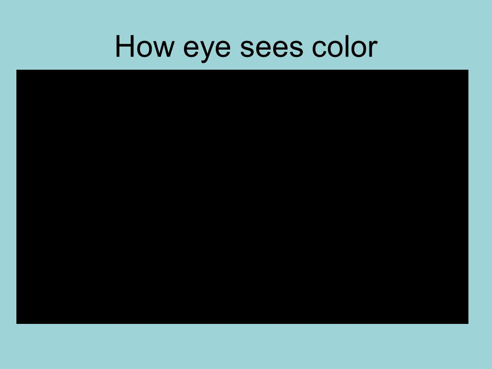 How eye sees color