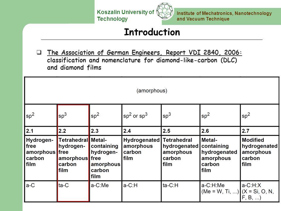 Institute of Mechatronics, Nanotechnology and Vacuum Technique Koszalin University of Technology Summary 1.