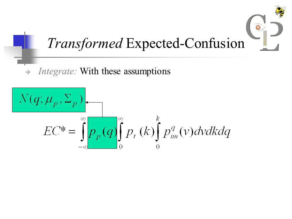Transformed Expected-Confusion Integrate: With these assumptions
