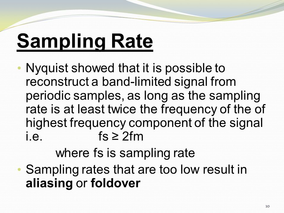 9 Three different sampling methods for PCM 4.9