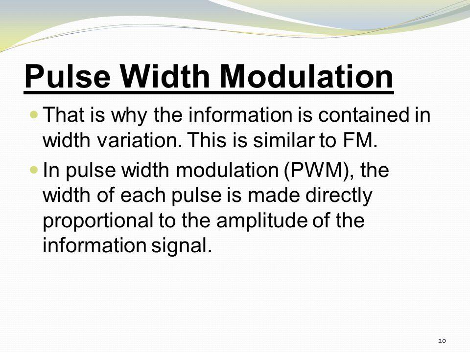 19 Pulse Width Modulation 19 Fig: