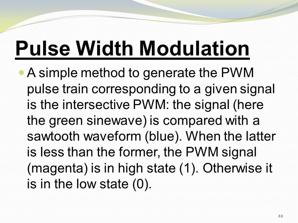 21 Pulse Width Modulation 21