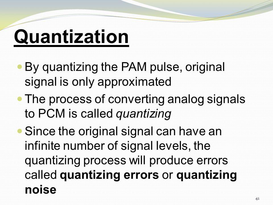 40 Pulse Code Modulation(PCM) 40