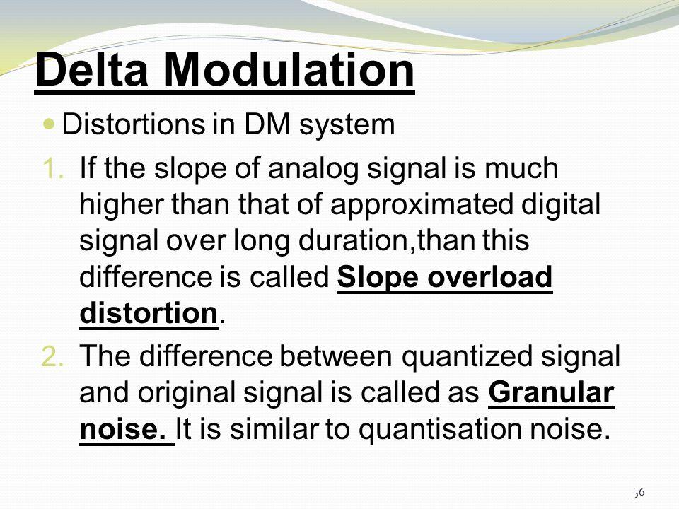 55 Delta Modulation DM system. (a) Transmitter. (b) Receiver. 55