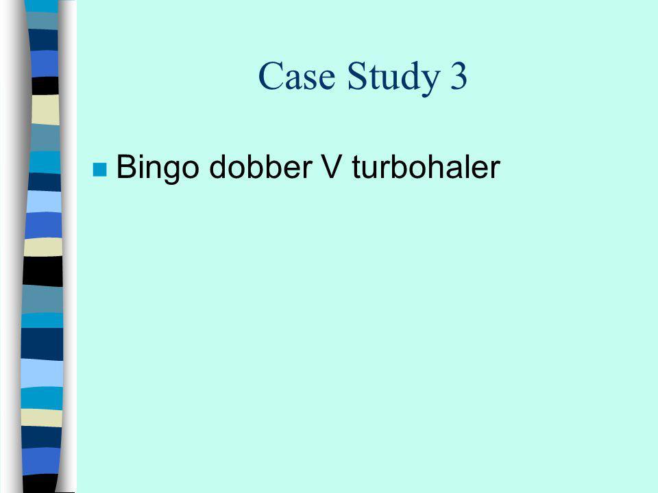 Case Study 3 n Bingo dobber V turbohaler