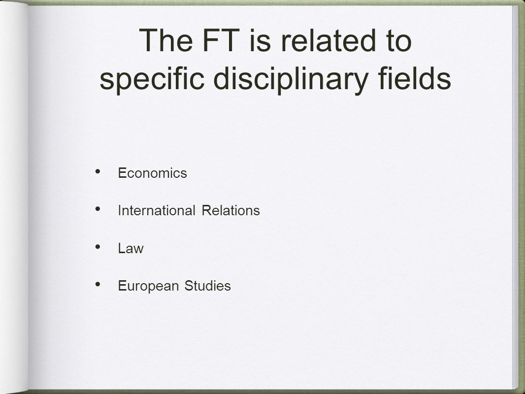 The FT finds its roots in Law studies...
