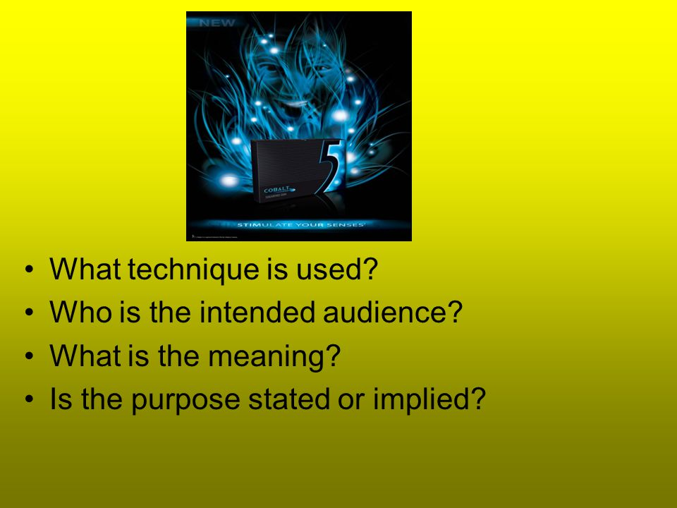 What technique is used. Who is the intended audience.
