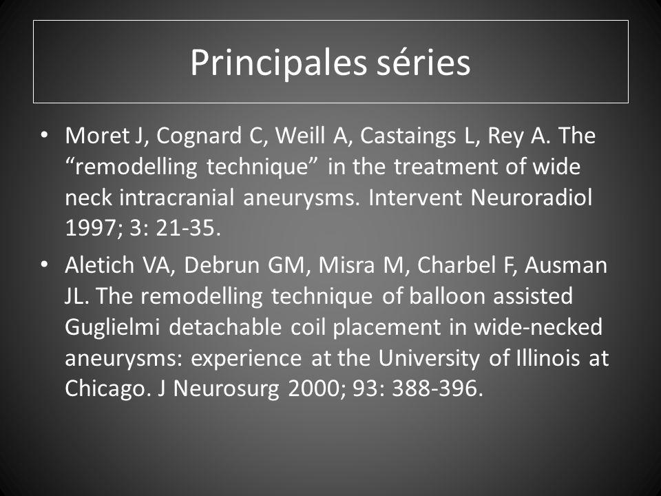 Principales séries Moret J, Cognard C, Weill A, Castaings L, Rey A.