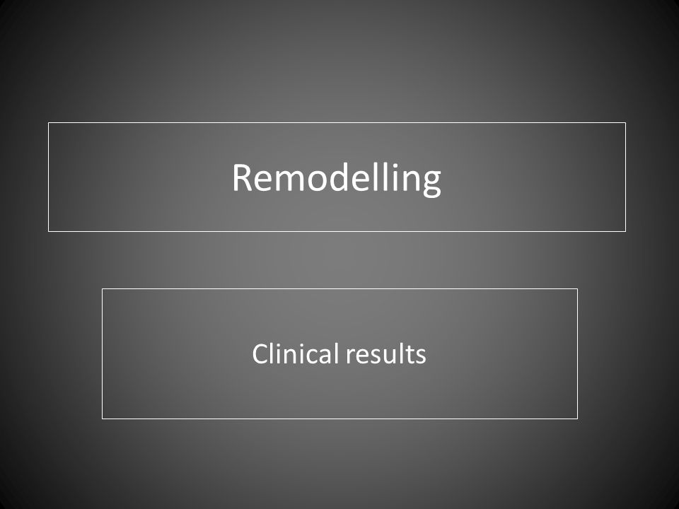 Remodelling Clinical results
