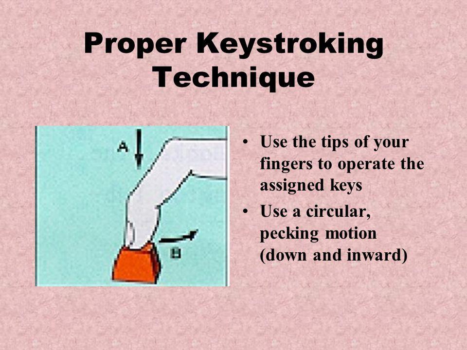 Fingers near home row keys Proper Techniques