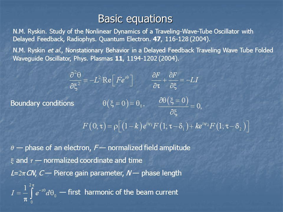 Basic equations N.M. Ryskin.