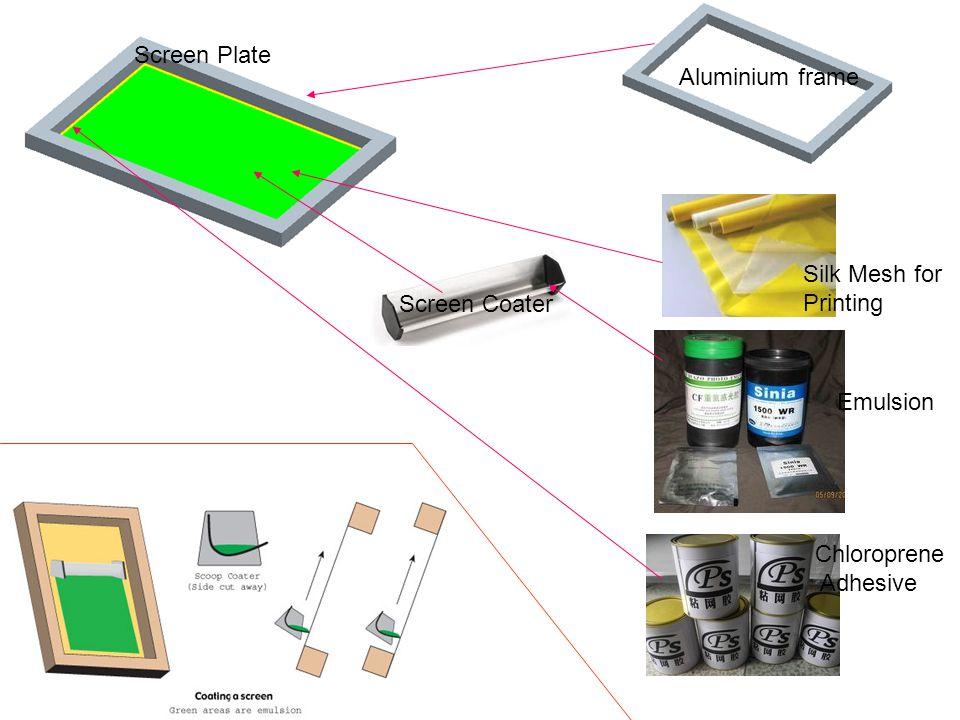 Silk Mesh for Printing Aluminium frame Screen Coater Emulsion Chloroprene Adhesive Screen Plate