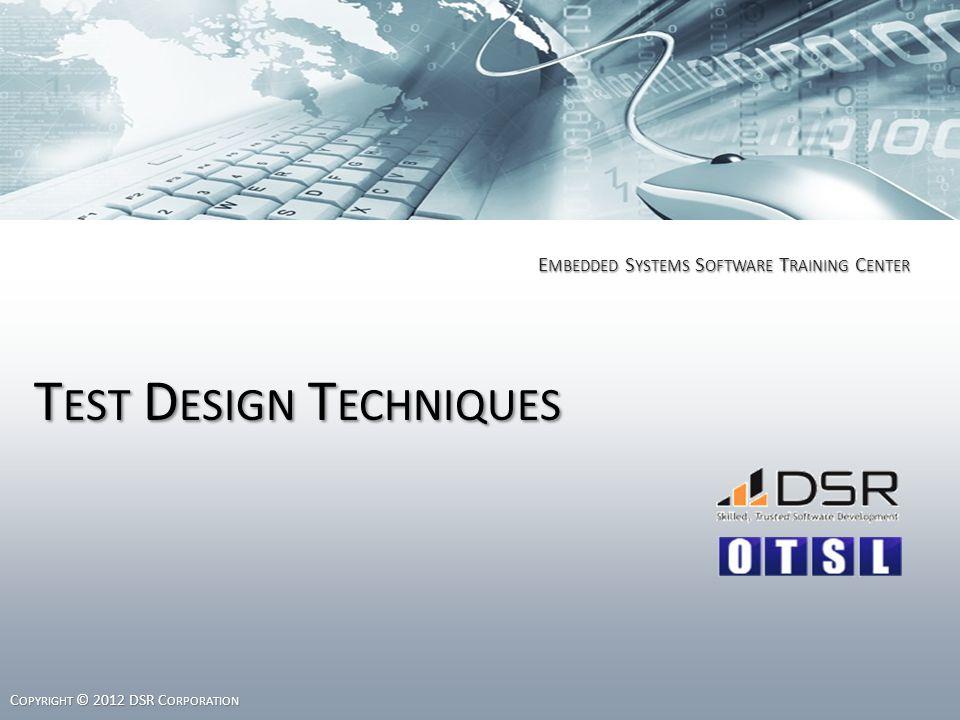 Questions 1.Classify the Test Design Techniques.