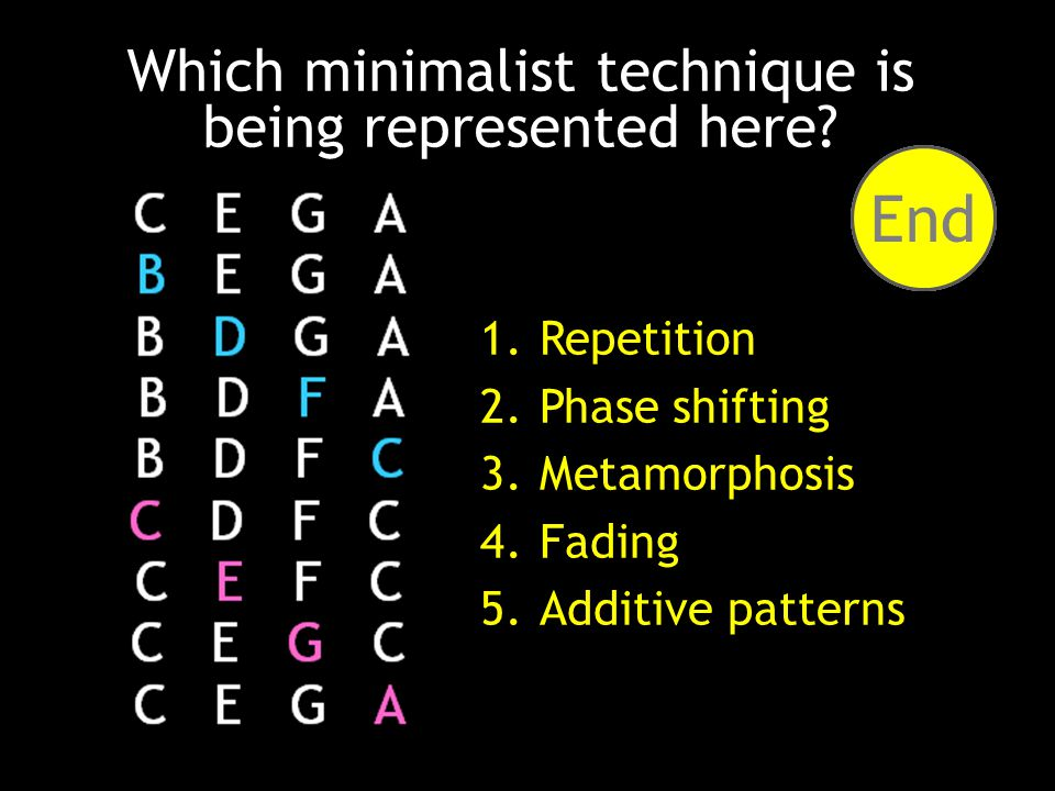 How well do you know your minimalist techniques