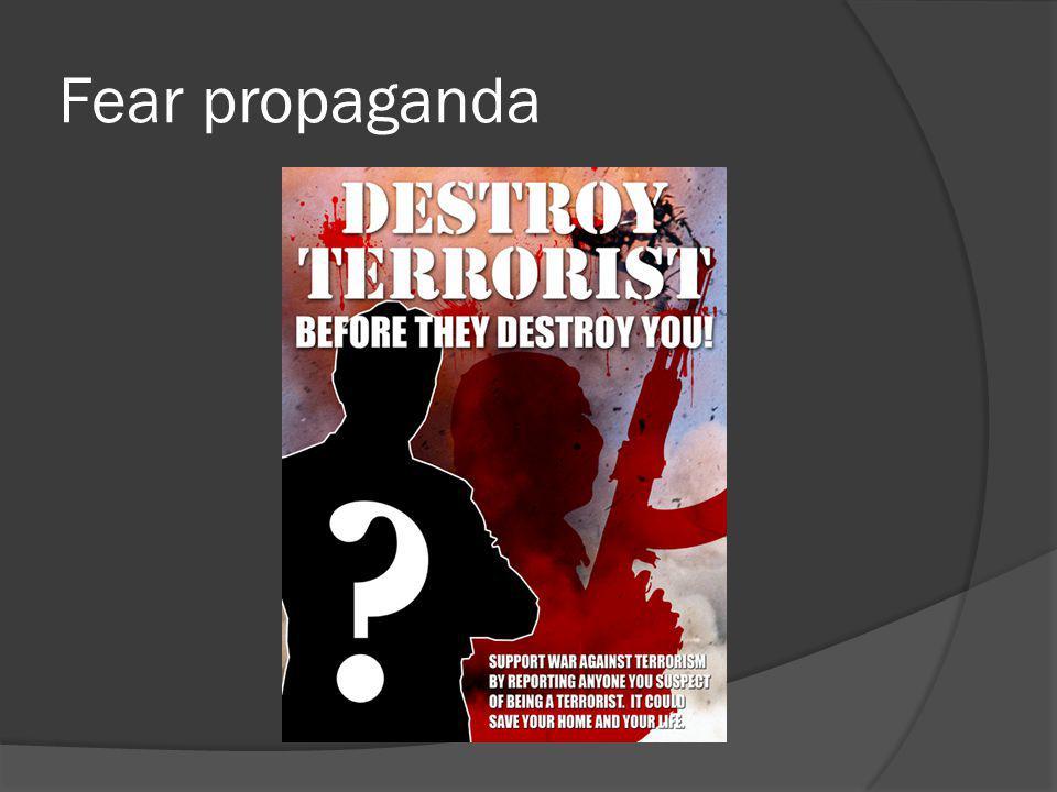 Fear propaganda