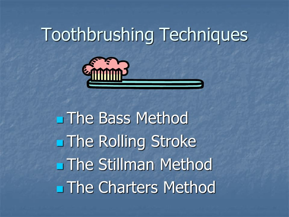 The Bass Method Position the filaments up toward the root at a 45° angle to the teeth.